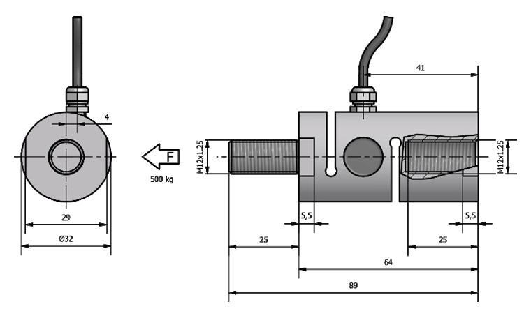 Tension load cell AF32 Schema