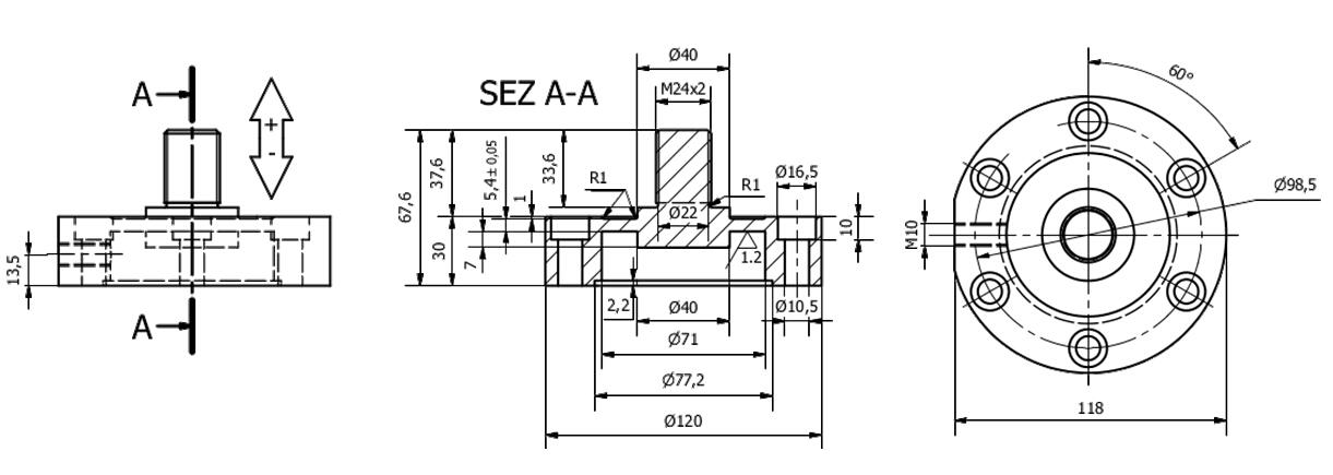 Druck-Zugkraft-Wägezelle ME8GE Schema