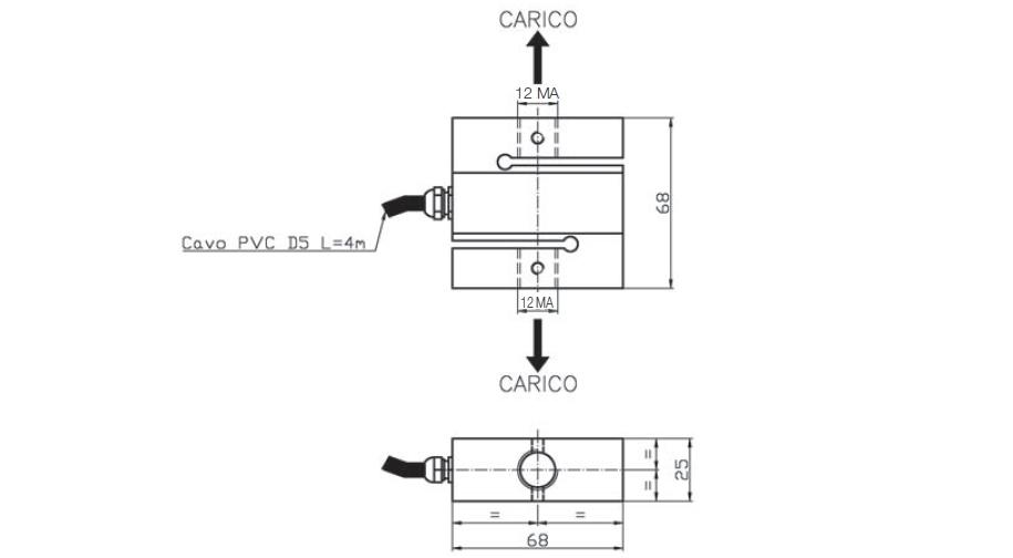Tension load cell AF2 Schema