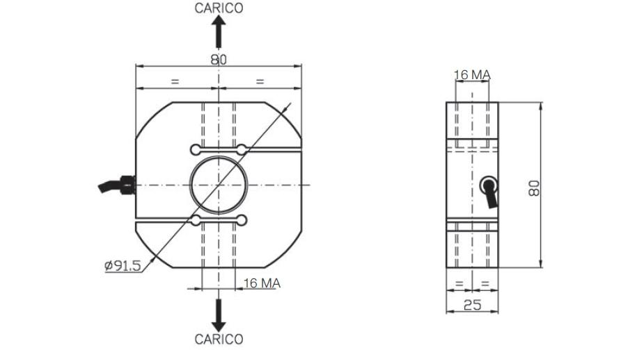 Tension load cell AF4 Schema