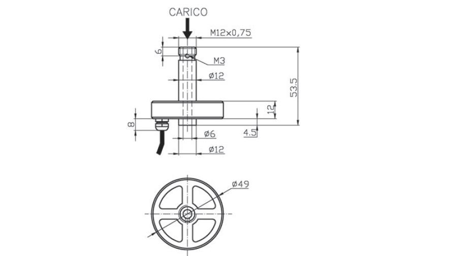 Universal load cell OM2 Schema