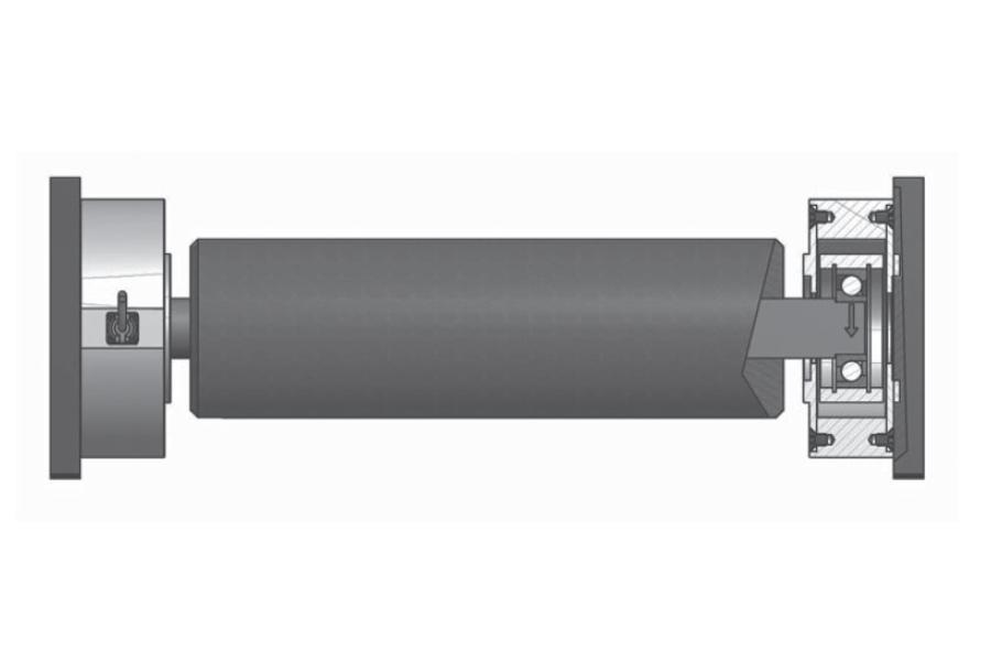 Rollen-Wägezelle R104F Montaggio
