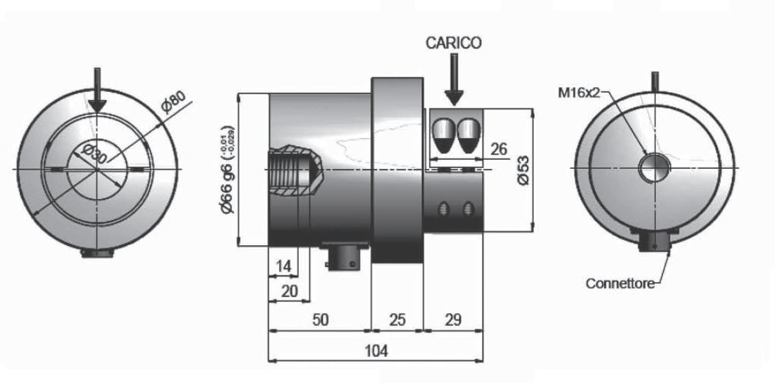Rollen-Wägezelle R80MF Schema
