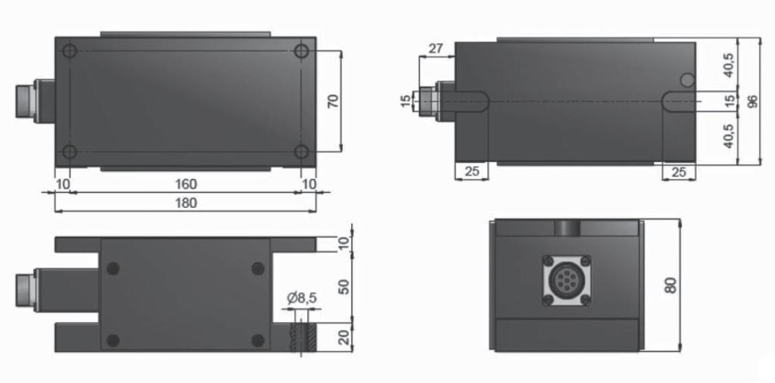 Rollen-Wägezelle R180T Schema